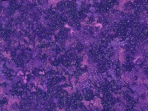 Purple Tie Dye with Silver Sparkle