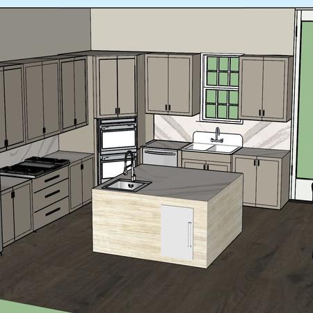 3D Rendered Kitchen