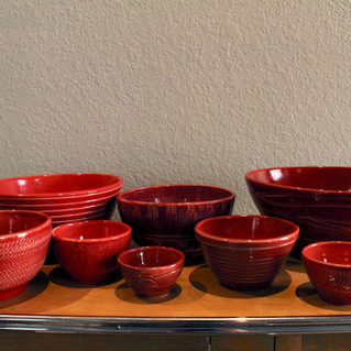 Red Serving Bowls