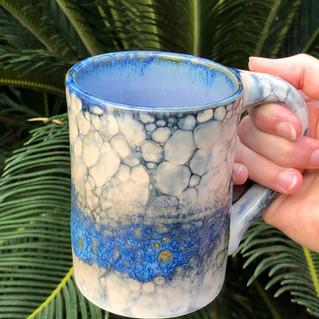 Blue opal mug