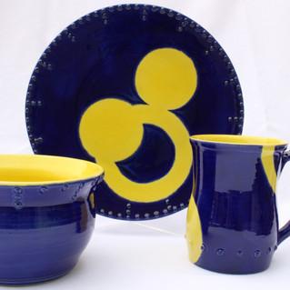 Blue & Yellow place setting