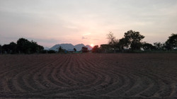 Sunset at the project site