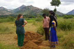 Soil analyses at the project site