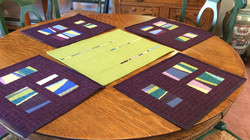 Penny Merkel-Reversible table topper 2 with its complimentary placemats (shown last meeting).