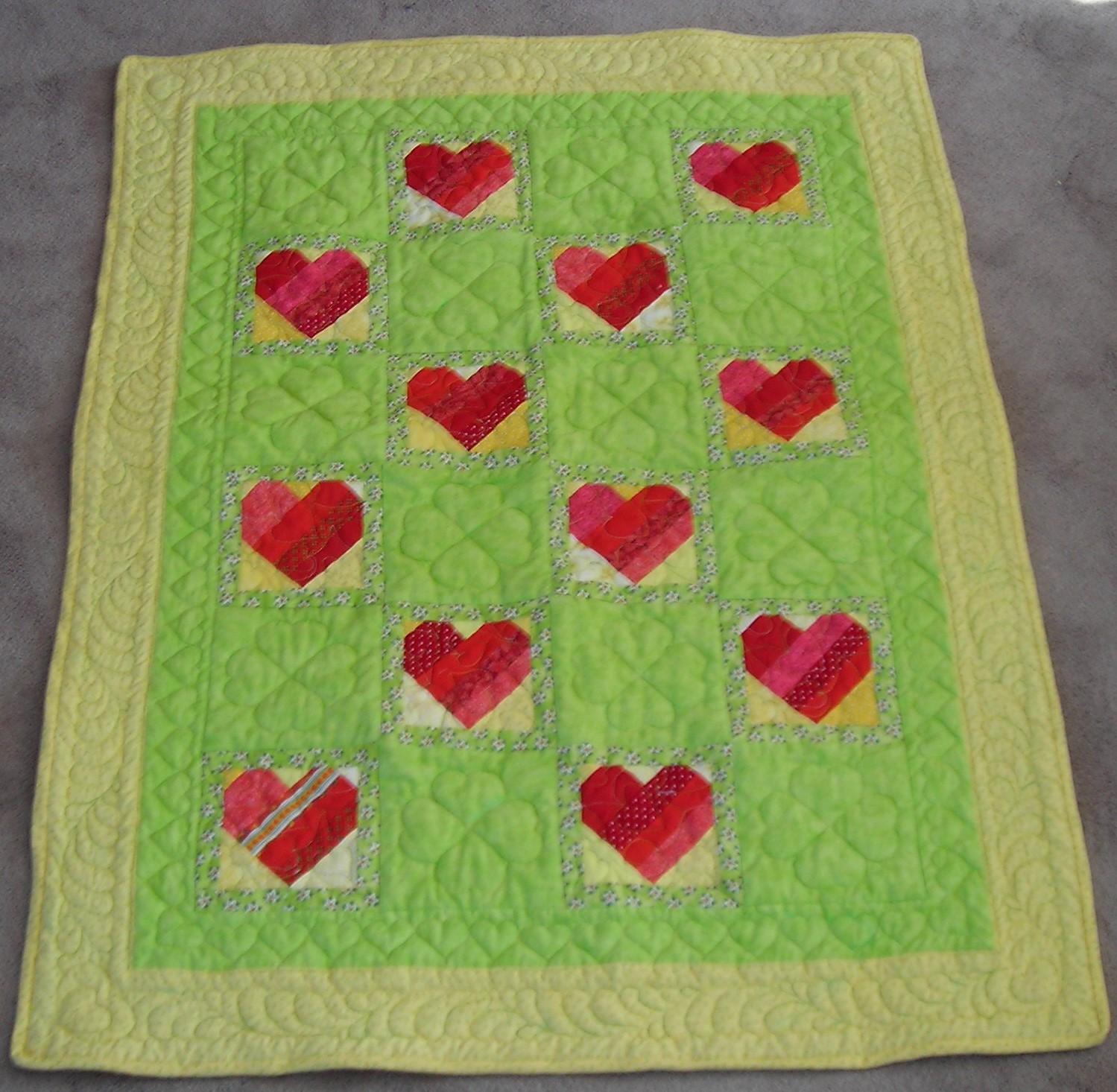 Carol Johnson - Hearts Mini Quilt