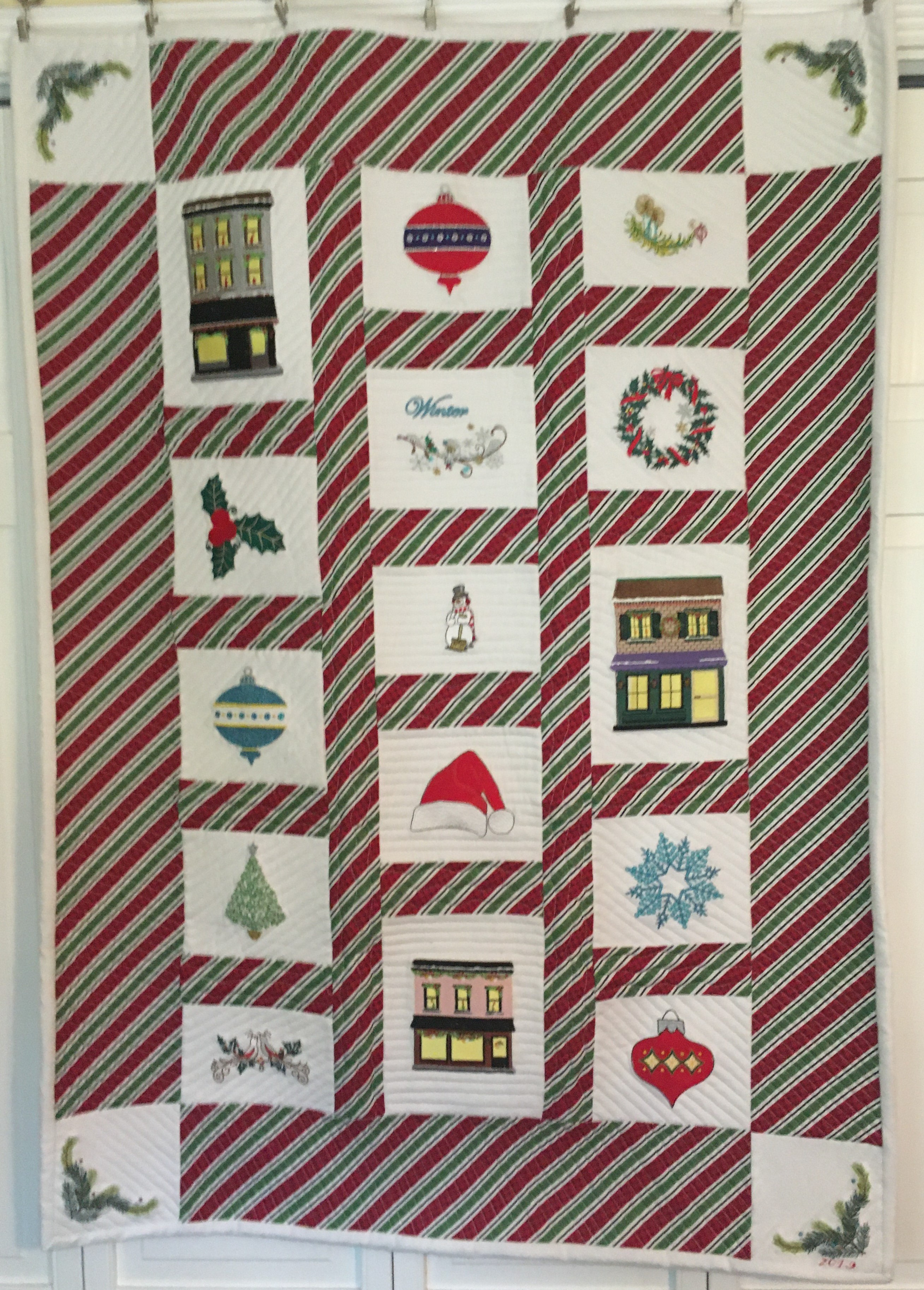 Barbara Lindsell-Holiday Embroidery Quilt