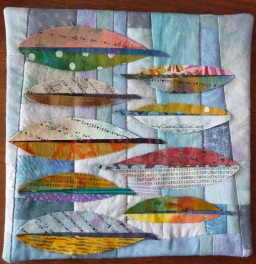 Louise Hutchison-Mini Quilt - Feathers