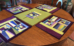 Penny Merkel-Reversible table topper with its complimentary placemats (shown last meeting).