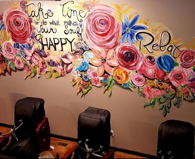 Sweet & Sassy Nail Salon Mural Shelbyvil