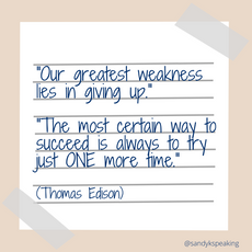 Thomas Edison Quote about not giving up