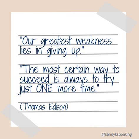 Quote Pic. Thomas Edison Quote about not giving up