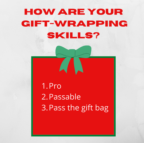 Social media interactive post. Christmas. Rate Your Wrapping Skills Game