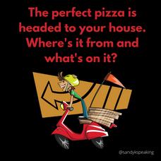 Interactive social media post pizza