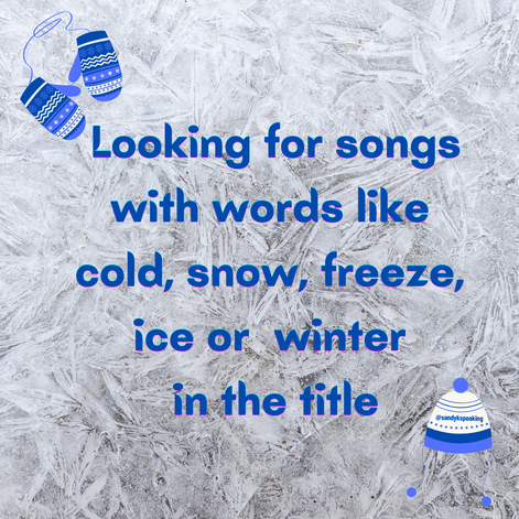 Social media engagement. Winter. Music Game: Name a Song With...