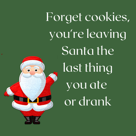 Social media engamenent Christmas post. what will you leave Santa