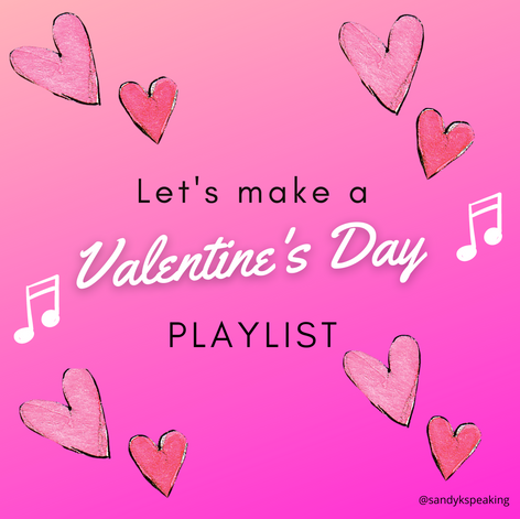 Facebook engagement post. Music. Valentines Day