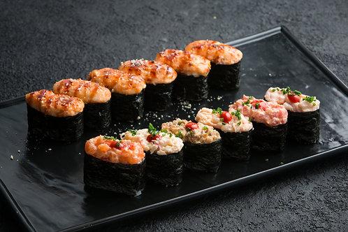 Суши запеченные: лосось (1 шт)