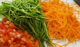 Salada de legumes com tofu