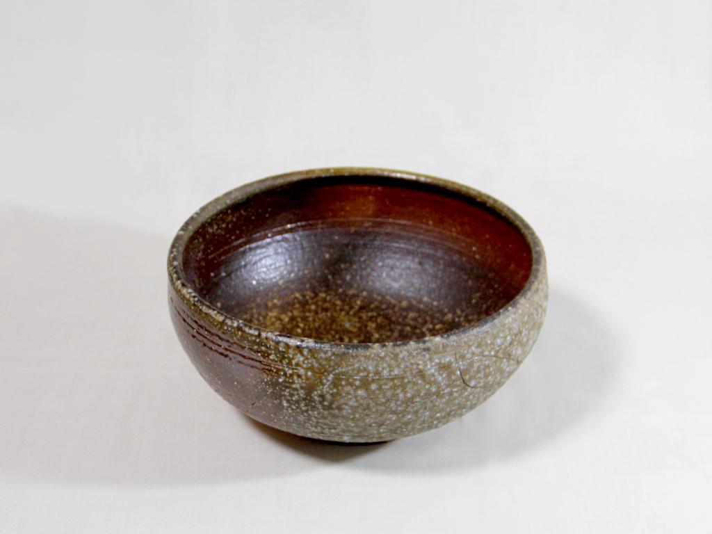 薪窯焼き締め 秋草紋鉢