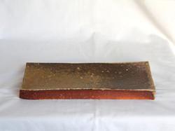 薪窯焼き締め 長角台皿