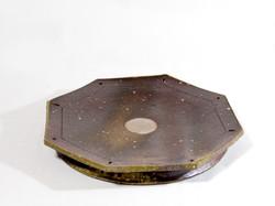 薪窯焼き締め 八角台皿