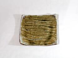 薪窯焼き締め 四方皿