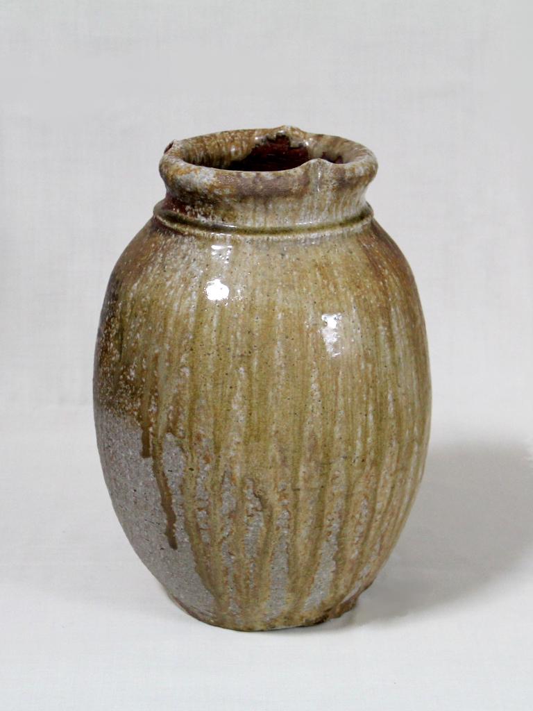 薪窯焼き締め 壷