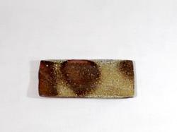 薪窯焼き締め 長角皿
