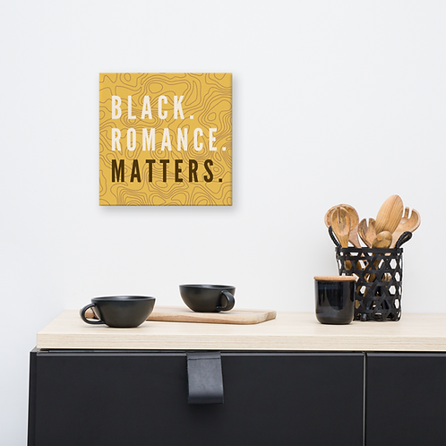 Black romance Matters Canvas