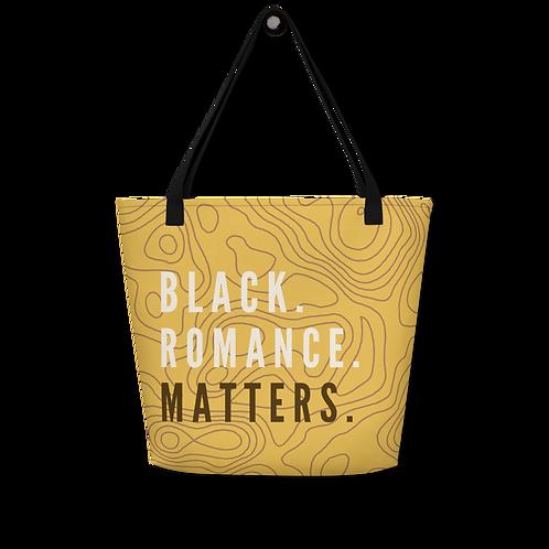 Black Romance Matters Tote  Bag