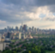 Aerial view of Toronto city from above,