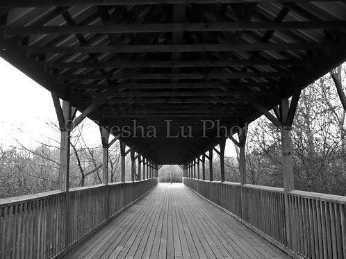 Covered bridge at Heritage Park