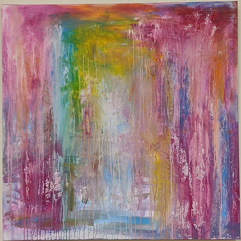 Spiritual rainbow rain