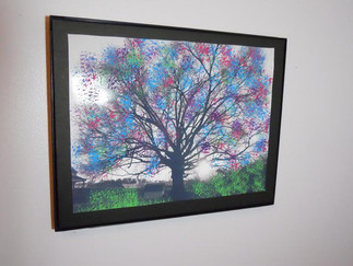 Painted tree photograph 2011