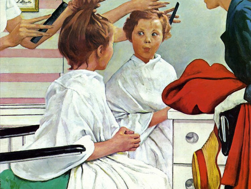 "Collaboration: Rendition of Norman Rockwell's ""First Trip to the Beauty Shop"""