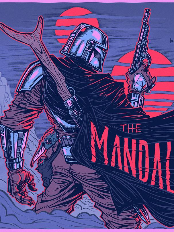 THE MANDALORIAN | SCREEN PRINT POSTER