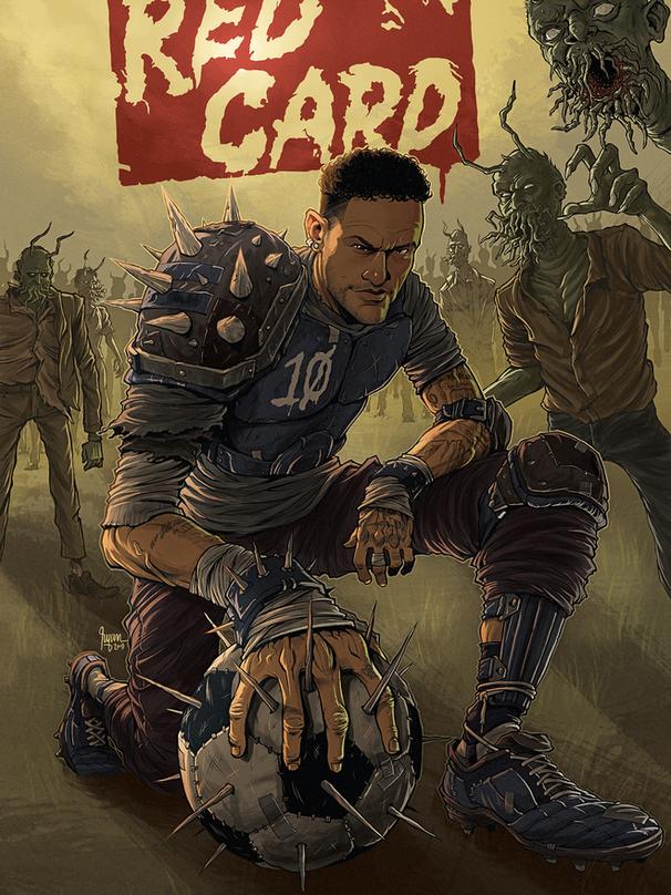 NEYMAR JR COMICS COVER: RED CARD