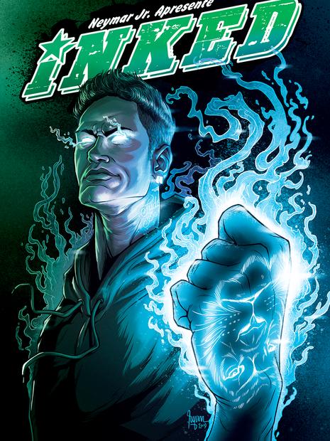 NEYMAR JR COMICS COVER: INKED