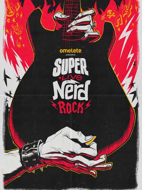 SUPER LIVE NERD ROCK POSTER