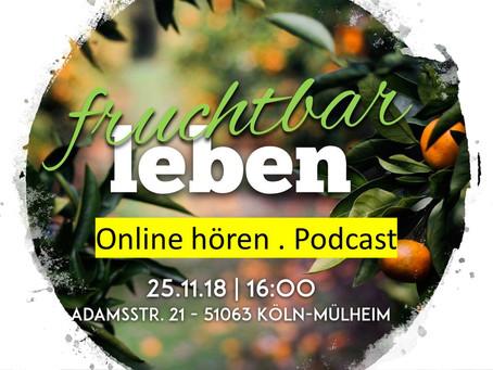 Online Predigt hören -- Fruchtbares leben teil 2