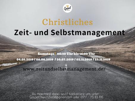 Christliches Zeit- und Selbstmanagement 2019 - Seminarreihe