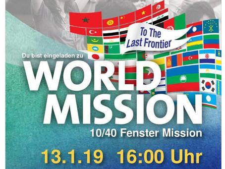 >>>> Gottesdienst 13.01.2019 mit InterCP – international – überkonfessionell – Mission <<<<