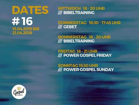 *Termine der Gospel Church e.V. Woche 16*