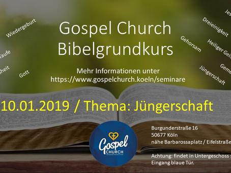 Bibelgrundkurs 10.01.2019 - Jüngerschaft