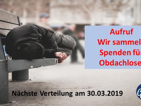 Obdachlosen Aktion 30.03.2019