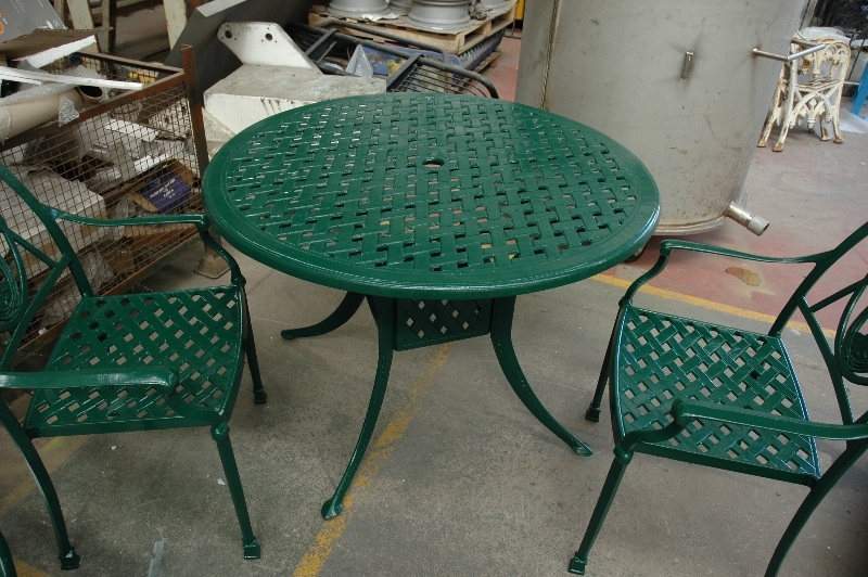 Garden furniture powder coated