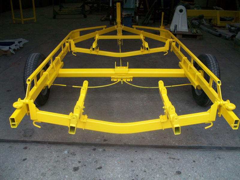 Boat trailer powder coated
