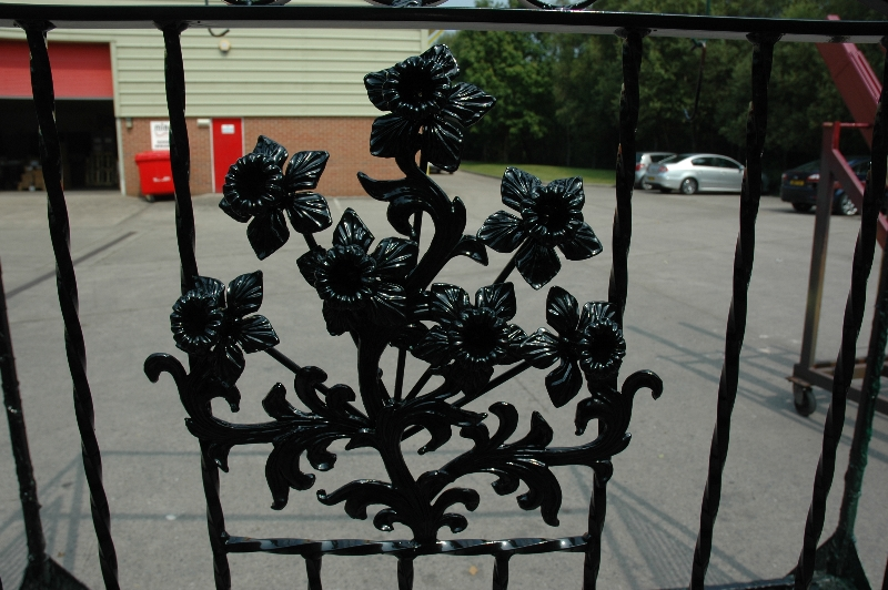 Gates powder coated
