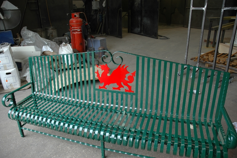 Bench powder coated