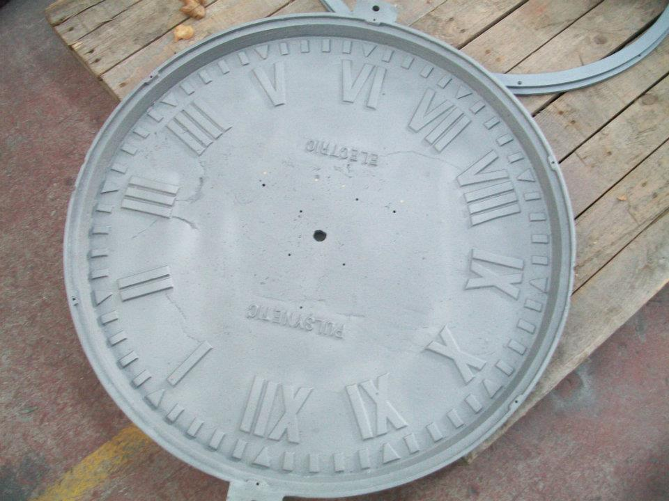 Antique clock powder coated